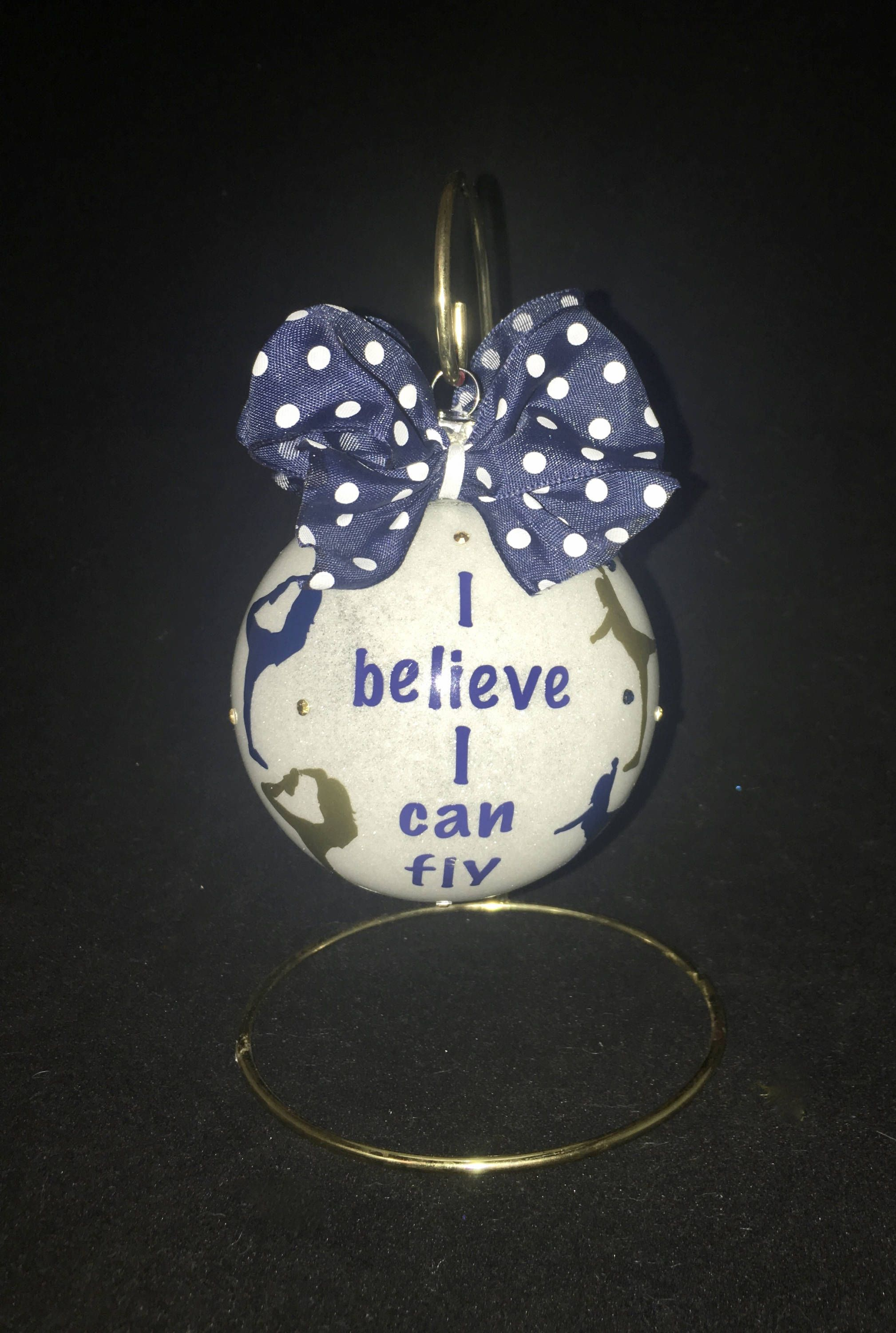 cheer flyers ornament i believe i can fly ornament for cheerleaders
