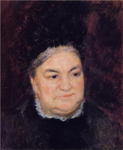 Portrait of an Old Woman (Madame le Coeur) - Pierre-Auguste Renoir