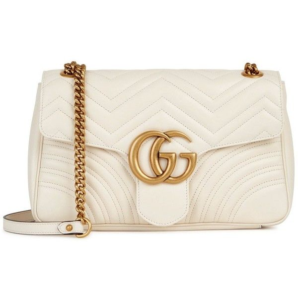 GUCCI GG Marmont Medium Leather Shoulder Bag ( 1,900) ❤ liked on Polyvore  featuring bags, handbags, shoulder bags, real leather shoulder bags, gucci  ... 5235aa8bd7