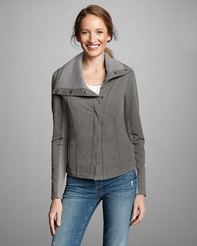 Flannel cardigan womens  Womenus Asymmetrical Versa Knit Jacket  Eddie Bauer  Style
