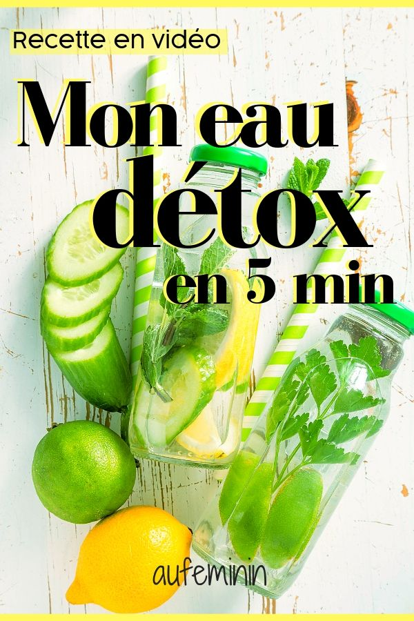 Eau détox, recette express #boissonsfraîches