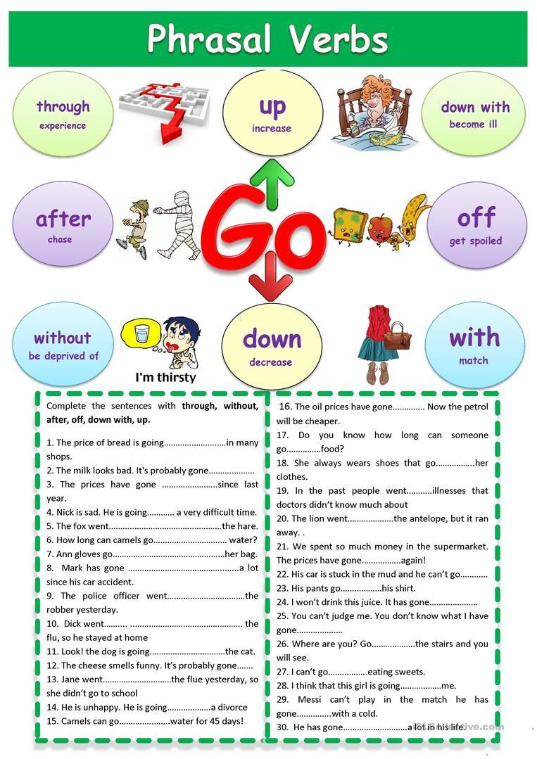 Phrasal Verbs English Verbs English Phrases Verb Worksheets [ 1079 x 763 Pixel ]