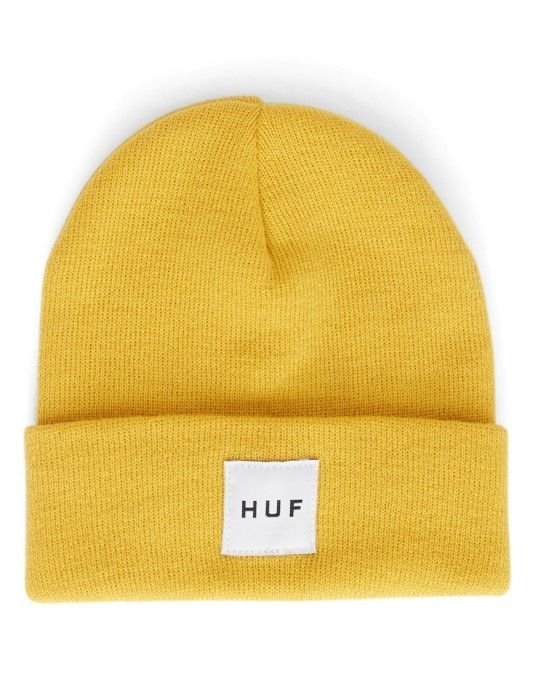 bfea66cdb6d3 HUF Box Logo Beanie Yellow #StyleMadeEasy | men's apparel in 2019 ...