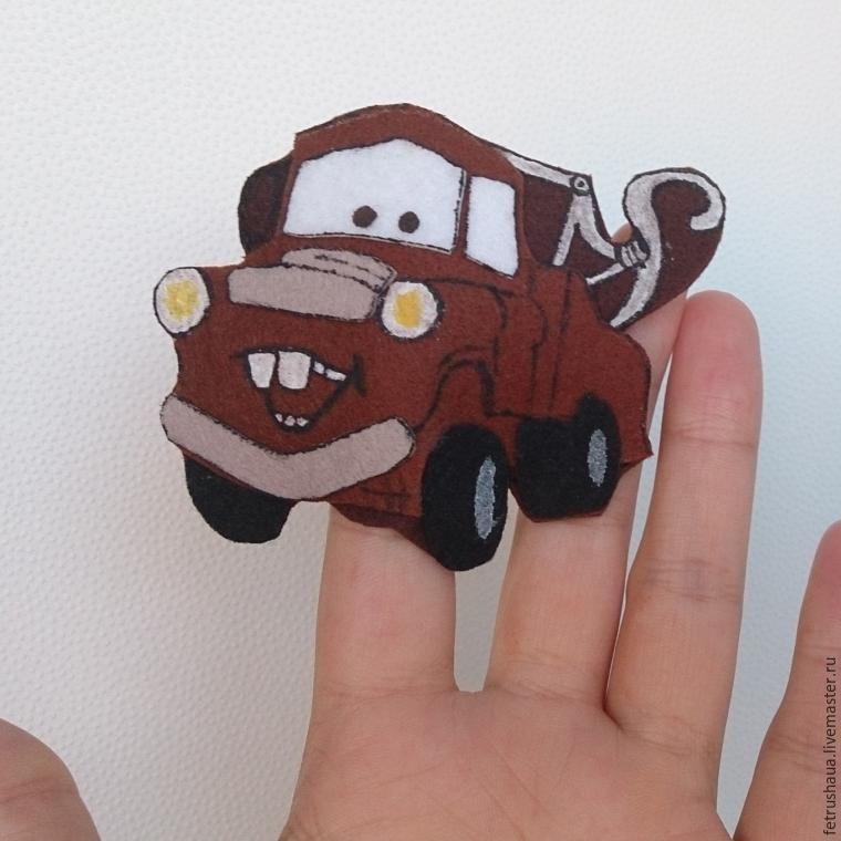 Создаем пальчиковую игрушку Мэтра, героя всеми любимого мульфильма «Тачки» - Ярмарка Мастеров - ручная работа, handmade