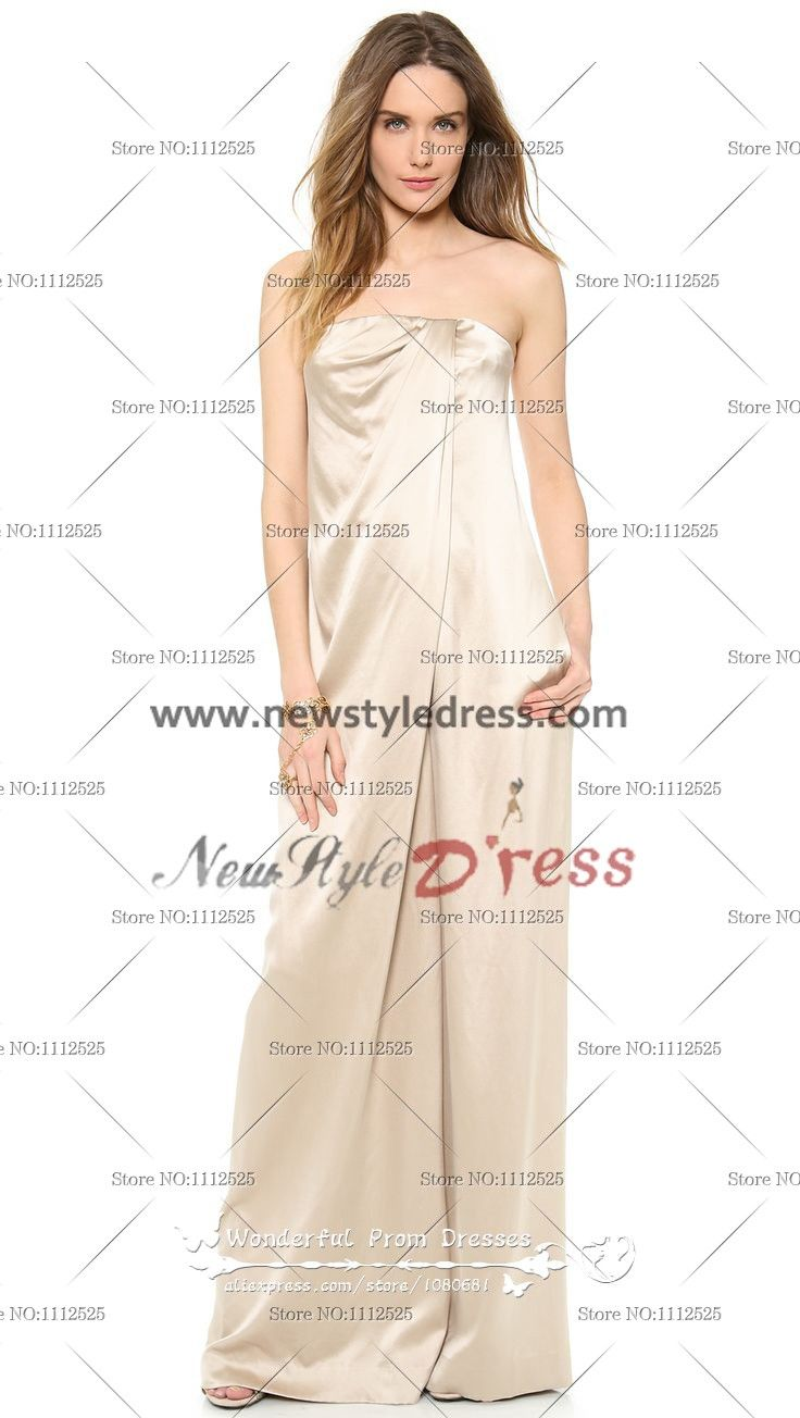 6ad45a55f8ae Champagne Charmeuse Strapless Glamorous Elegant Jumpsuits wps-047 Wholesale Wedding  Dresses