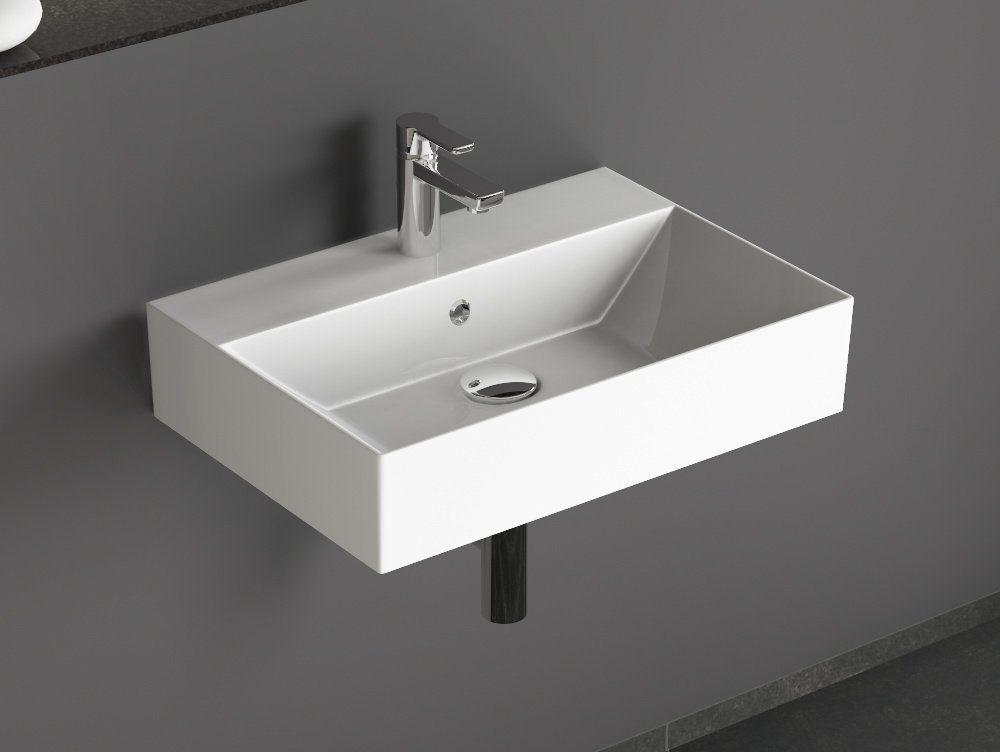 Aqua Bagno KS60 Design Waschbecken/Aufsatzbecken 60x42cm Keramik - spülbecken küche keramik