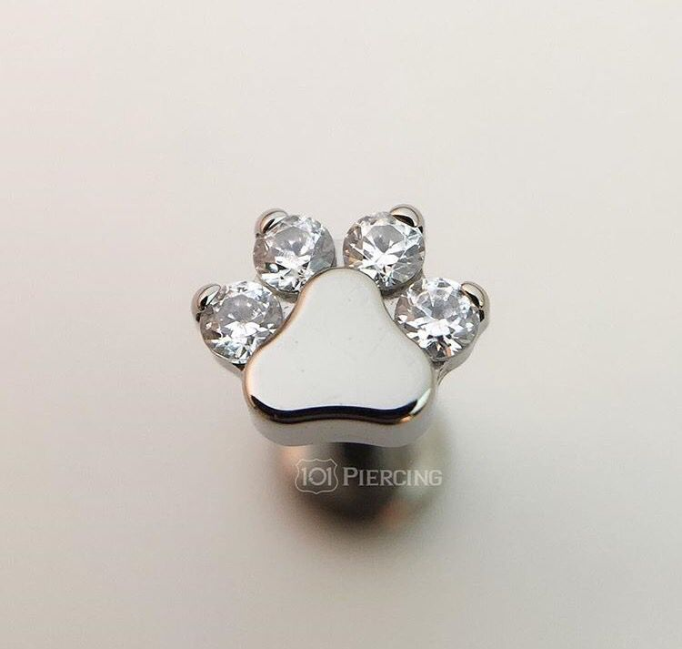 6ac5ad939a6ad Paw print piercing jewelry by Industrial Strength | Piercings ...
