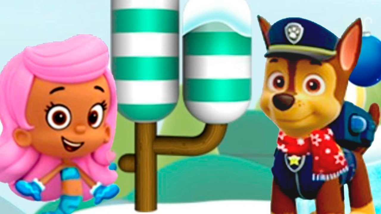 paw patrol bubble guppies dora in nick jr holiday party game