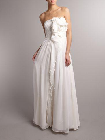 Anoushka G Dorena ruffle detail dress White - House of Fraser