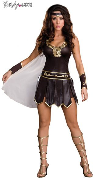 Gladiator Queen Costume, Babe-a-lonian Warrior Queen, Sexy Gladiator Costume