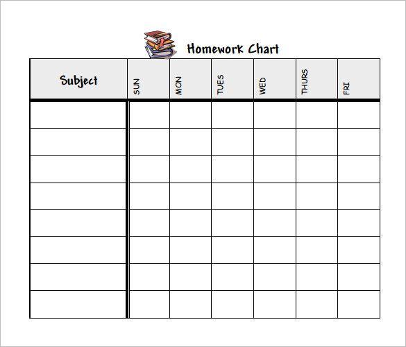 Image Result For Weekly Homework Planner Printable School