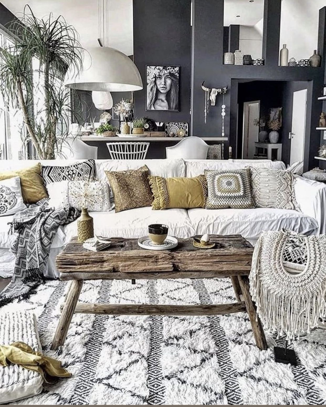 pinbrandon cook on family room | boho chic living room