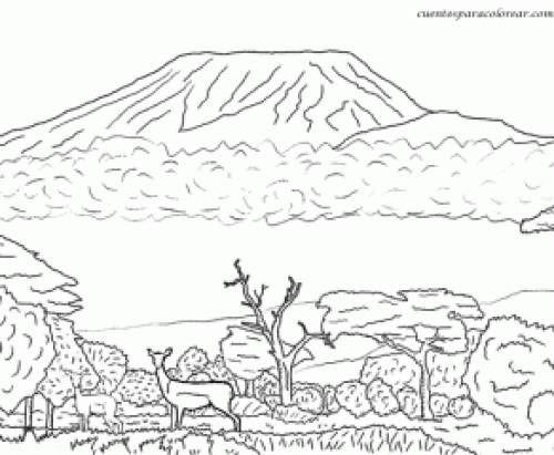 Dibujos Para Colorear El Desierto Buscar Con Google Paisaje Para Pintar Paginas Para Colorear Dibujos Para Colorear Paisajes