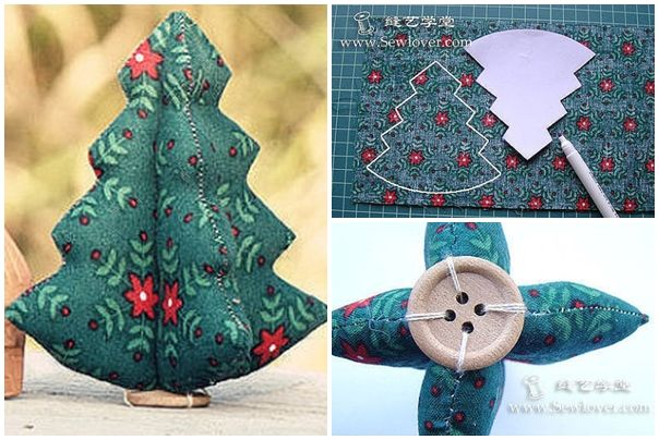 How to sew cute fabric christmas trees step by step diy tutorial how to sew cute fabric christmas trees step by step diy tutorial instructions how to solutioingenieria Gallery