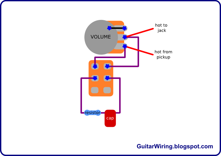 the guitar wiring blog diagrams and tips treble bleed switch rh pinterest com au wiring volume pot guitar wiring volume control to amplifier board