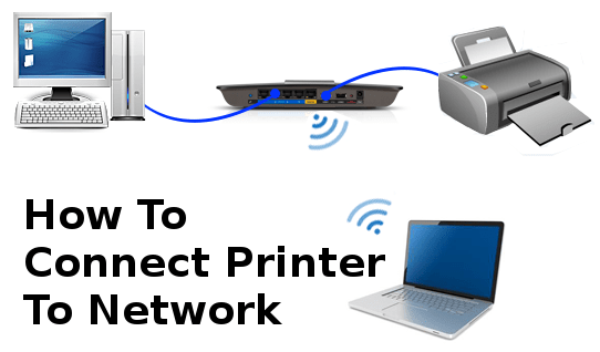 How to connect printer to network  to setup a printer on a