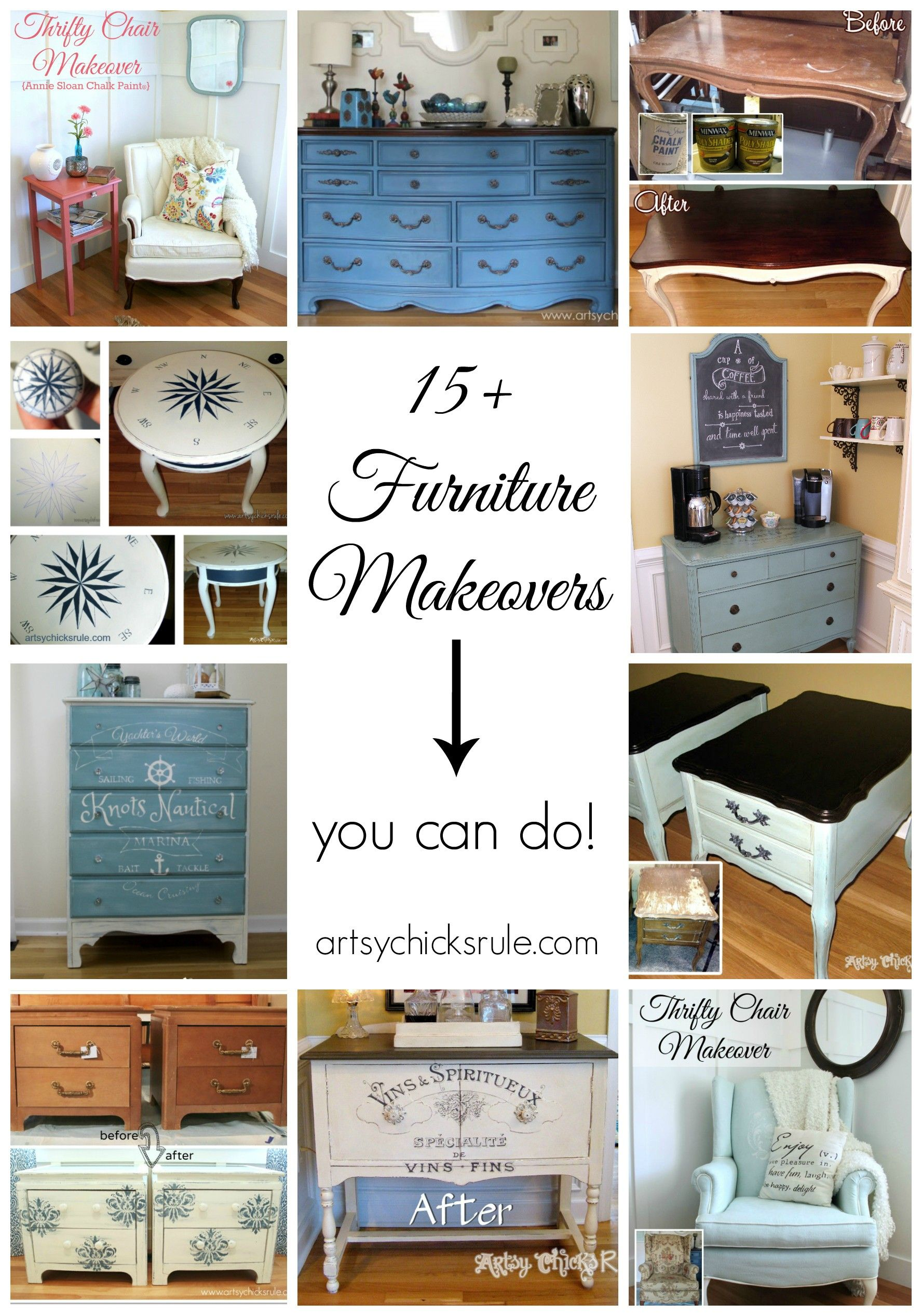 diy furniture makeovers. 15+ Furniture Makeovers (you Can Do Diy E