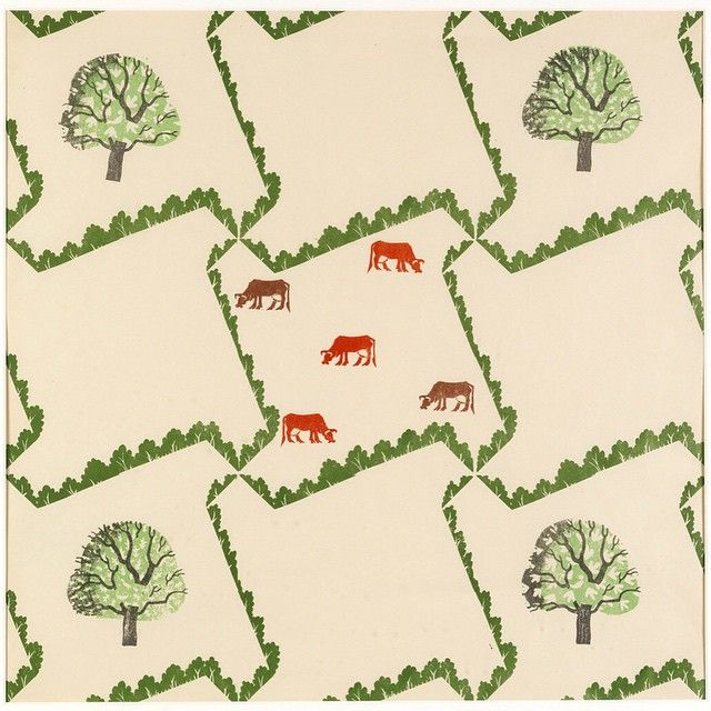 #wallpaperwednesday #edwardbawden #Tree and #Cow 1927