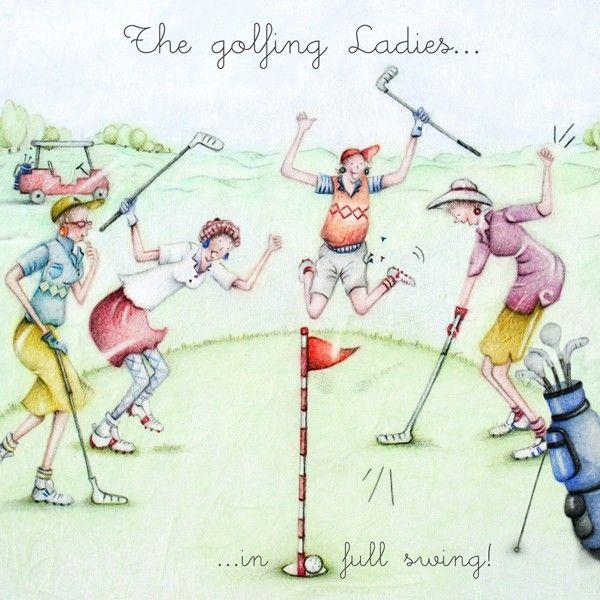Cards » The Golfing Ladies » The Golfing Ladies - Berni Parker Designs #golfhumor