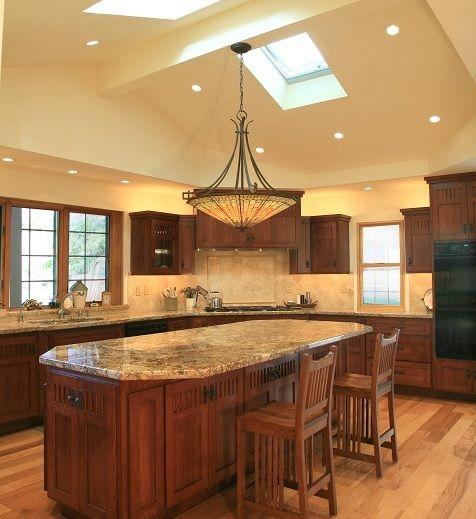 Craftsman style semi flush ceiling kitchen lighting | Home Interiors