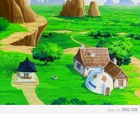 Dragonball Landscape Goku S Home Dragonball Pinterest Dragon