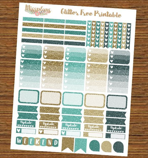 Free Printable Glitter Stickers | Miss Plans