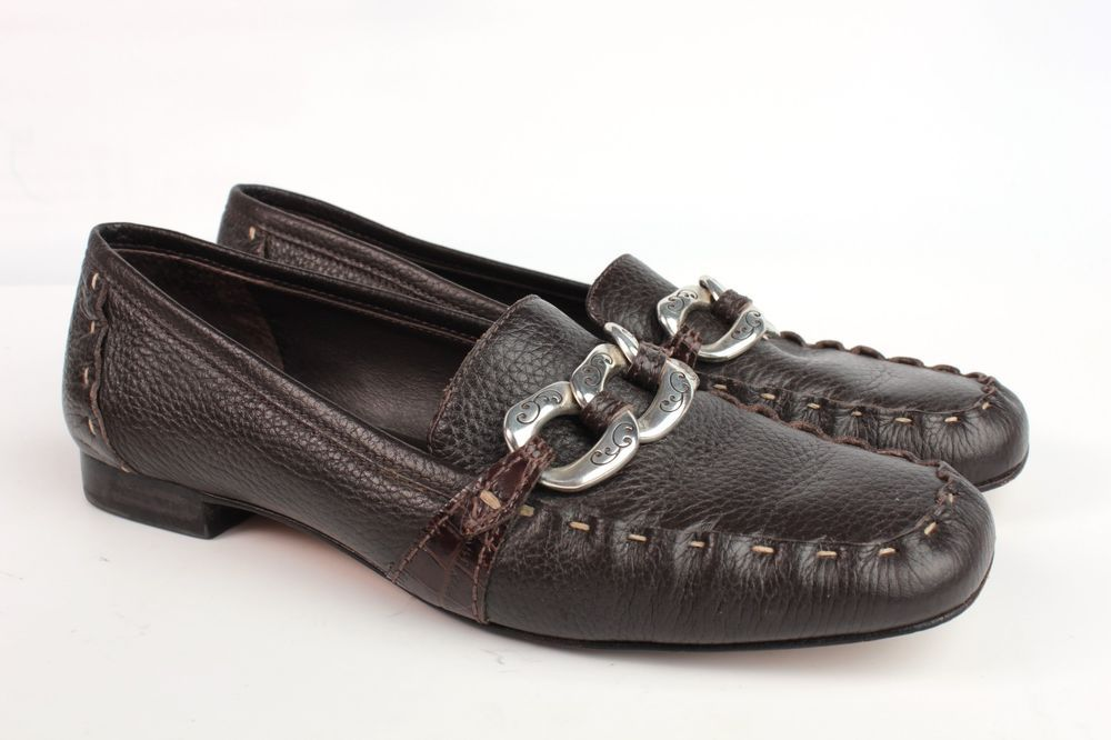 Brighton Klee Leather Loafer Women size 8 M Brown Leather Horsebit Mocassins #Brighton #LoafersMoccasins #Everyday