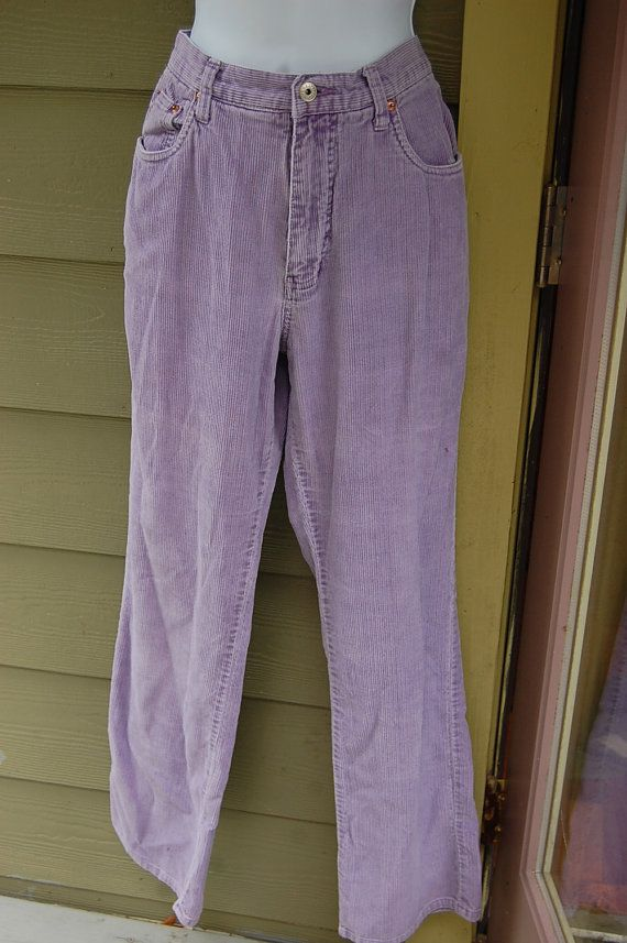 be9e0b79fc2786 Vintage 80s 90s Lavender Pastel Purple Express EXP High Waisted Corduroy  Cords Pants Size 9/10 by MaidenhairVintage, $26.00