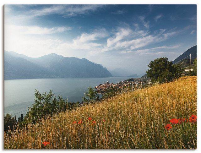 Leinwandbild »B. Brügging: Abendstimmung am Gardasee« #naturallandmarks