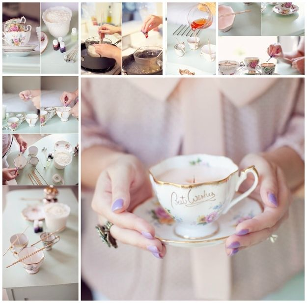Teacup Candle | 22 Perfect DIY Gifts For Stressed-Out Moms