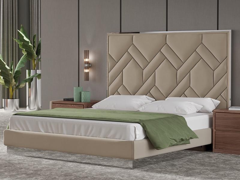 Lit Complet Tapiss Avec Acier Inox Mod Dorianne Bed Back In 2019