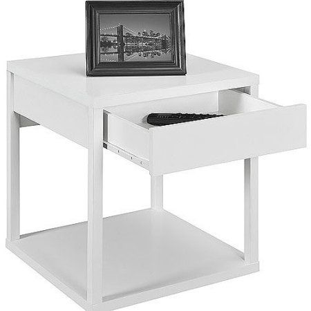 Mainstays Parsons End Table With Drawer Multiple Colors Walmart Com With Images End Tables With Drawers White End Tables Altra Furniture