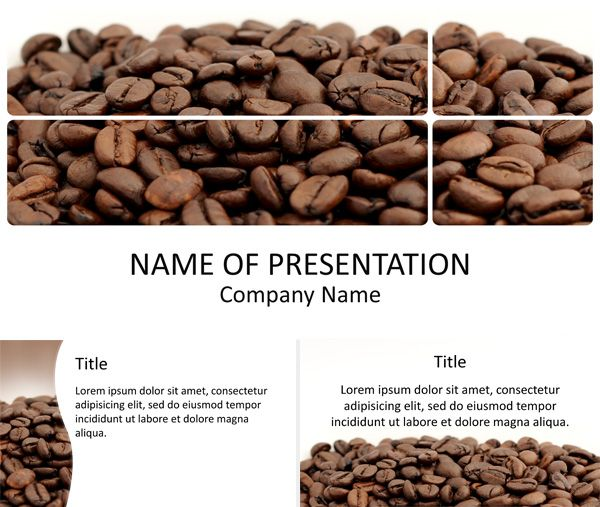 Coffee powerpoint template food drink powerpoint templates coffee powerpoint template toneelgroepblik Image collections