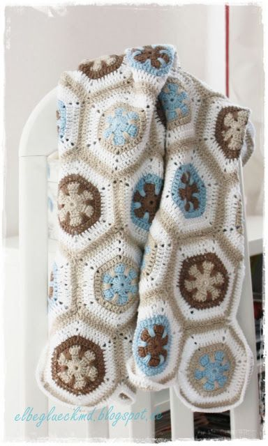 Granny Squares Hexagon Baby Blanket