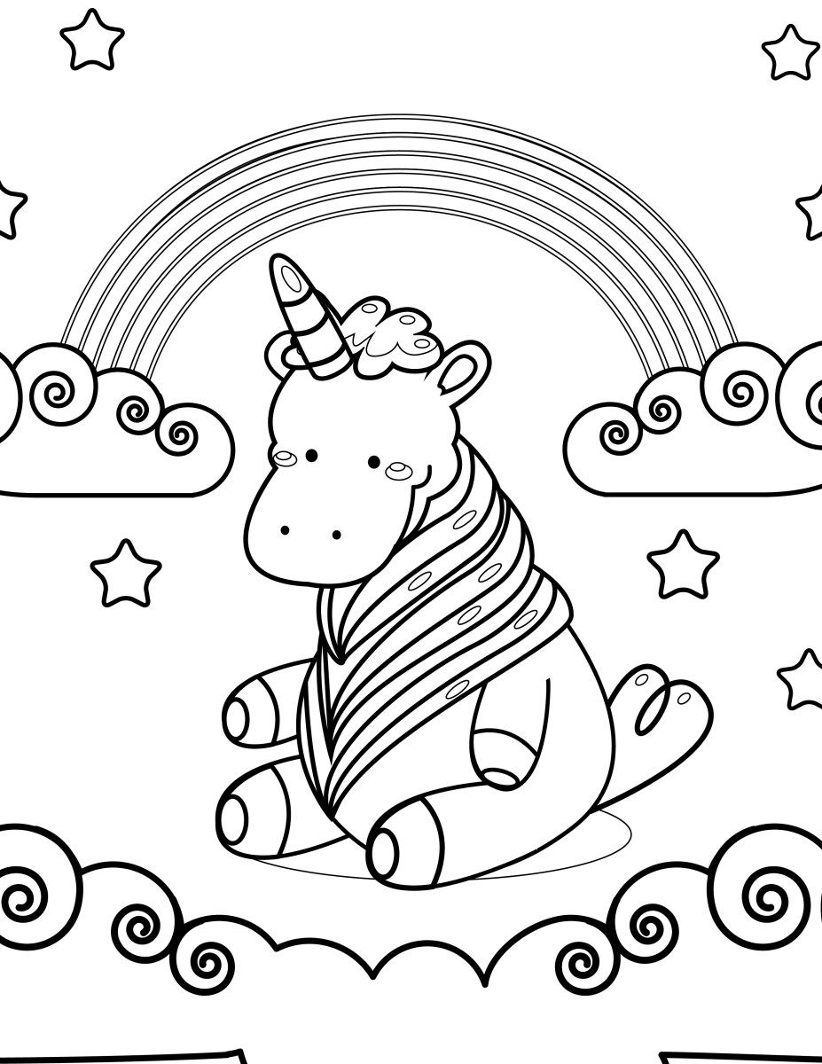 Adorable unicorne à imprimer et colorier | Coloriage kawaii, Coloriage, Colorier