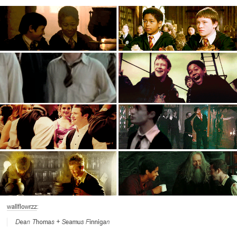 Deamus Tv Tropes Might Call This One Of The Many Gamma Couples Or Perhaps It S A Bromance But Th Harry Potter Wizard Harry Potter Love Harry Potter Ships