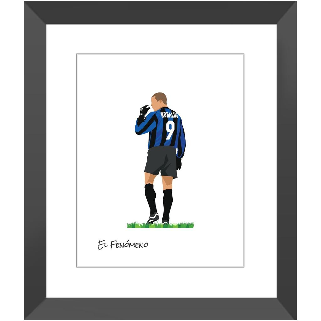 Ronaldo – Inter de Milán – 11×14″ / Black