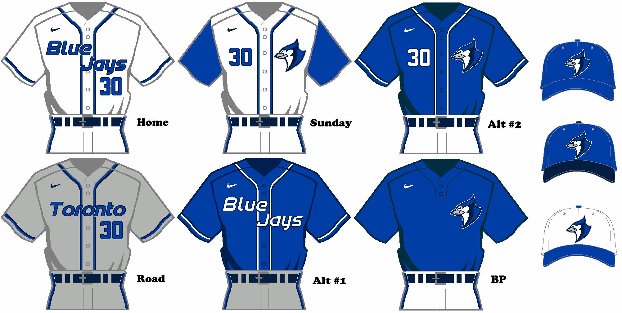 outlet store 1fdd7 04675 Nike MLB Rebrand Concept - Toronto Blue Jays Uniform Set ...