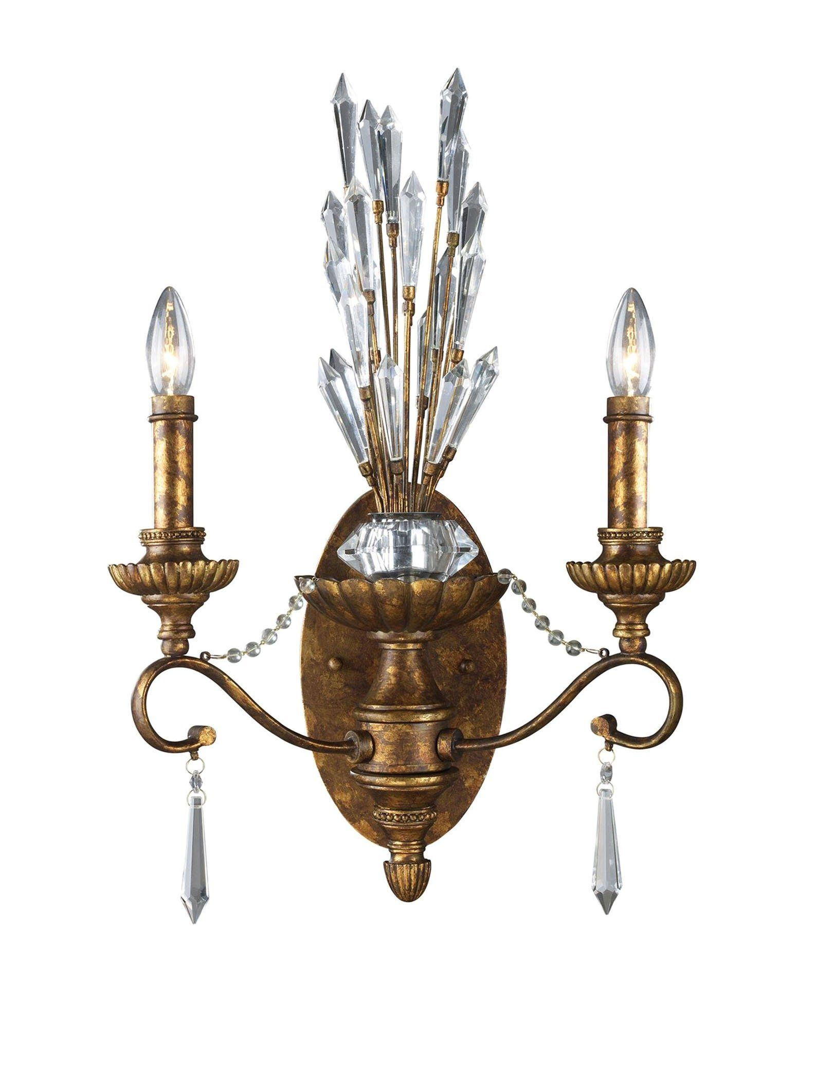artistic lighting senecal 2 light sconce spanish bronze at myhabit