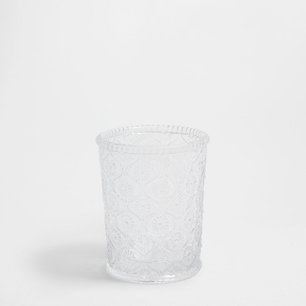 Image 1 of the product Raised floral glass tumbler