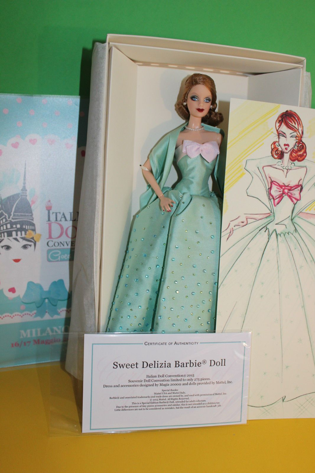 Barbie collector sweet delizia italian doll convention nrfb