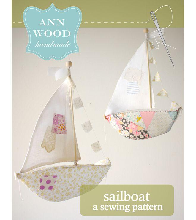 Sailboat : pdf pattern | Pinterest | Veleros, Trapillo y Madera