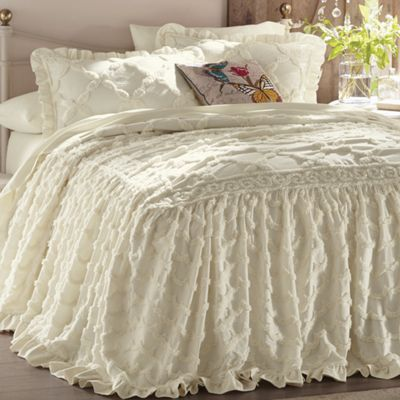 Angelica Ruffle Chenille Bedspread From Through The Country Door