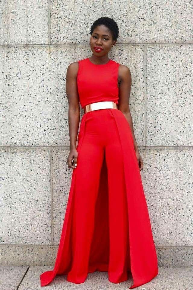 4e1af7f13ed7 Sexy Red Sleeveless Maxi Skirt Wide Leg Jumpsuit
