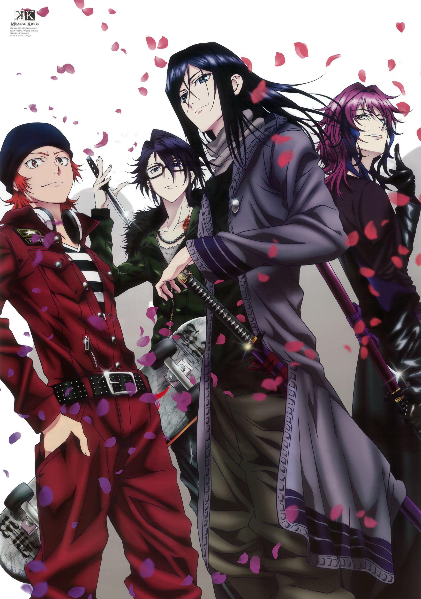 Misaki, Saruhiko, Kuroh and Yukari K Project Missing