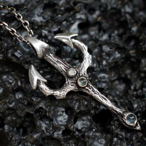 0cb1775f02 Aquamarine trident necklace | Trident in 2019 | Aquamarine pendant ...