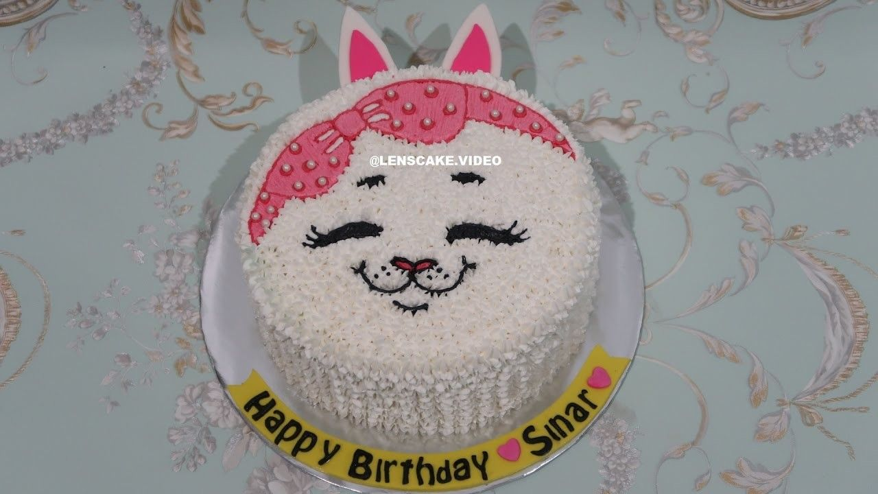 Pin cara menghias kue cake decorating cake on pinterest - Cat Cake Tutorial Easy How To Make Birthday Cake Cara Membuat Kue Ulang Tahun