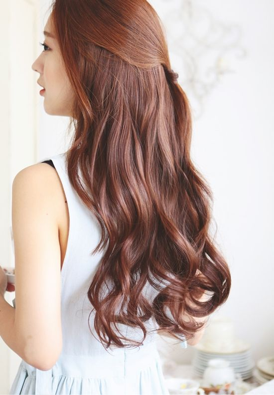 Korean Hairstyles 2016 Here Are Some Popular Hairstyles In Korea Pony Tail Long Wave Hair Wi Korean Hair Color Hair Color Asian Hair Waves