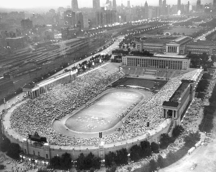 The original Soldier Field, Near Southside Chicago Opened in 1924