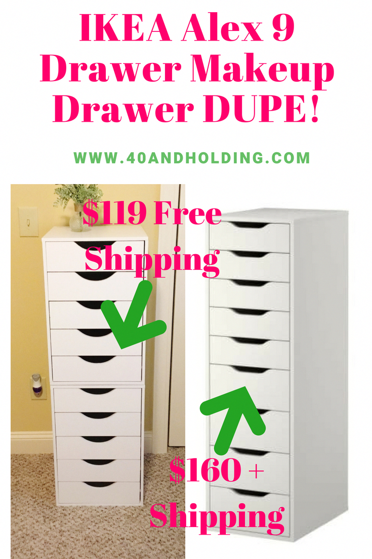 I Saved $89 With This IKEA Alex Makeup Drawer Dupe